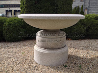 5' Wide Urn-style Pedestal Fountain Wild Rose Granite