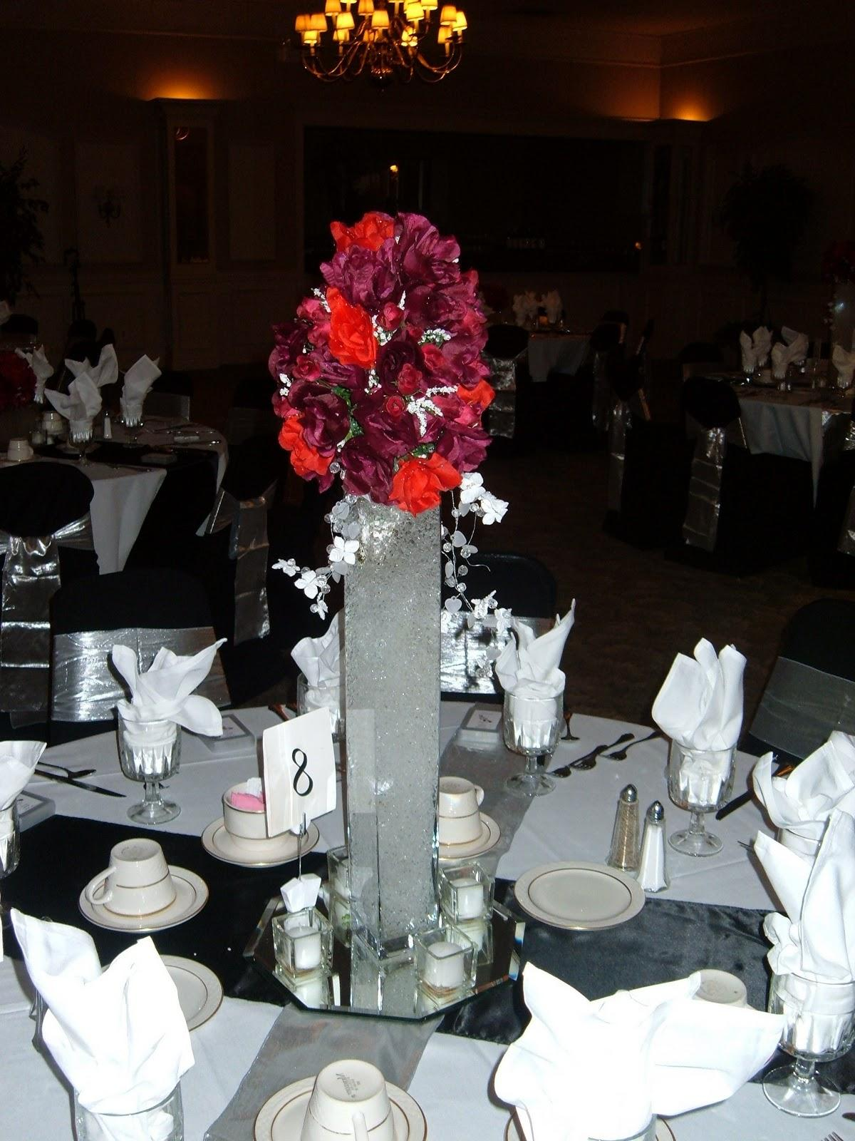 black and red reception.