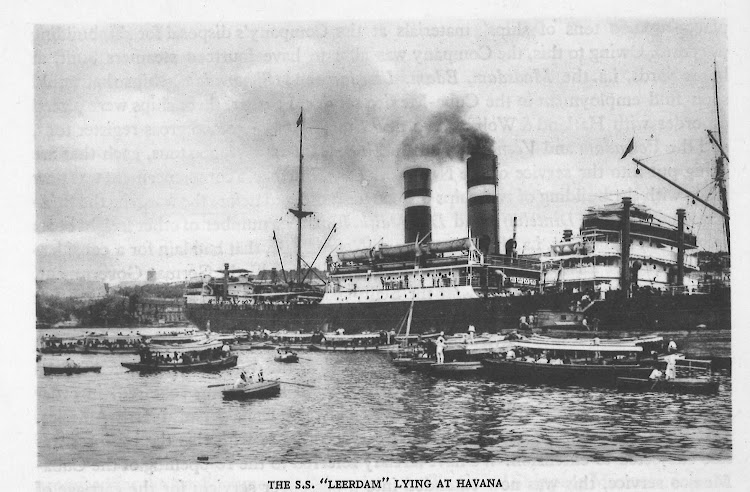 El LEERDAM en la Habana. Fecha indeterminada. Foto del libro Halland Amerika Lijn. 1873-1923.jpg