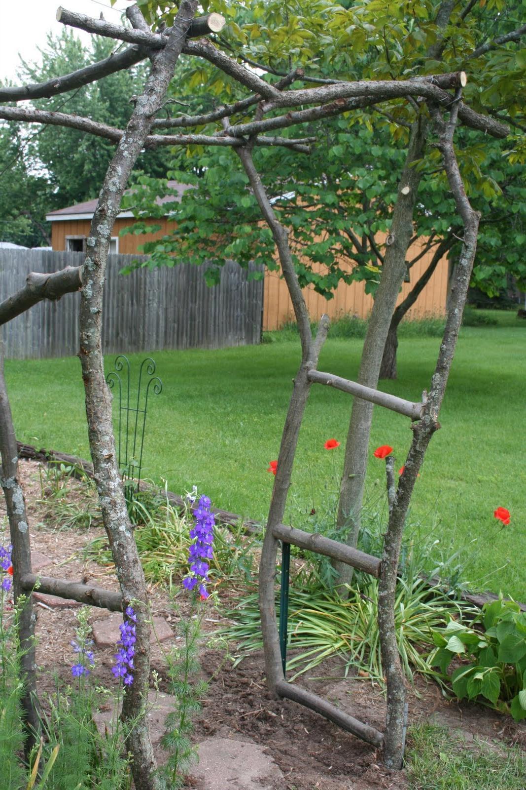 build a rustic garden arch