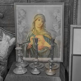 Religious Painting  by Lorraine D.  Heaney - Artistic Objects Still Life