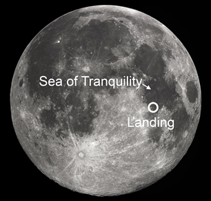 SEA OF TRANQUILITY MOON