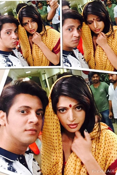 charlie chauhan in saree