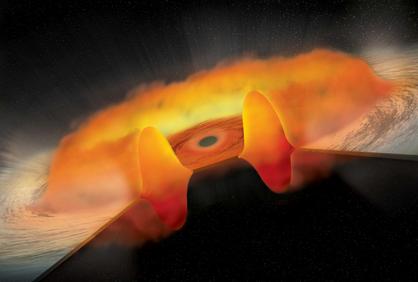 ilustração de um quasar