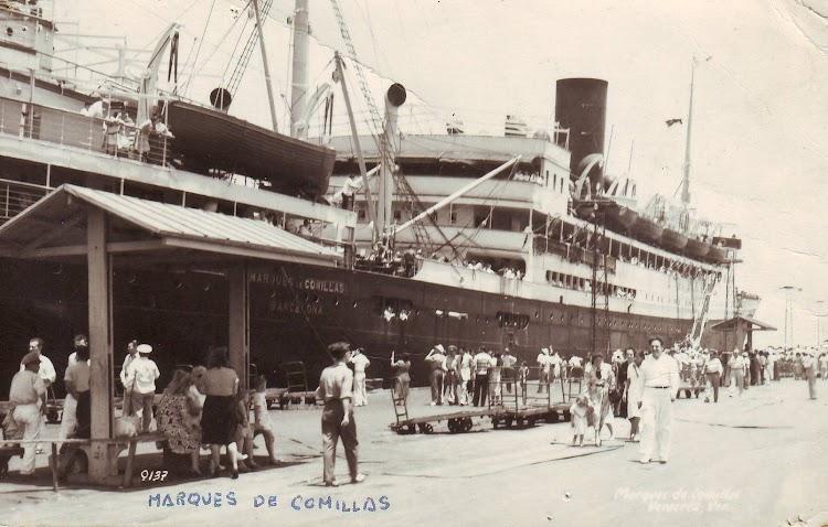 El MARQUES DE COMILLAS en Veracruz. Fecha indeterminada. Foto de Vicente Pérez Molías, remitida por Laureano Garcia. Nuestro agradecimiento.JPG