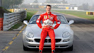 Michael Schumacher with a Maserati on Fiorano Circuit in Maranello