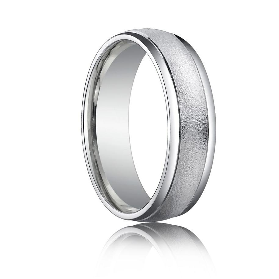14k White Gold 4.0mm Flat Comfort Fit Wedding Ring -  1000.00