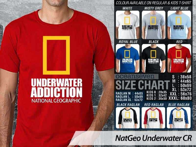Kaos NatGeo Underwater CR Diving distro ocean seven