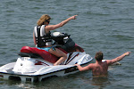 Marion did some jet-skiing