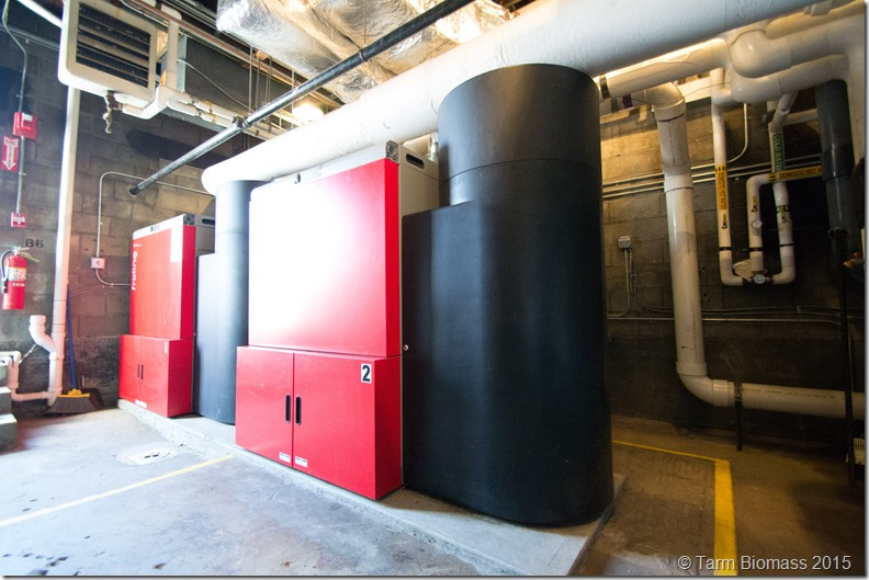 Two Fröling P4 Wood Pellet Boilers