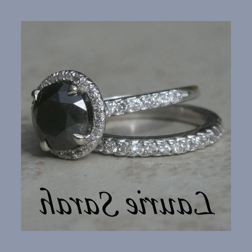 1.75 carat Round Black Diamond