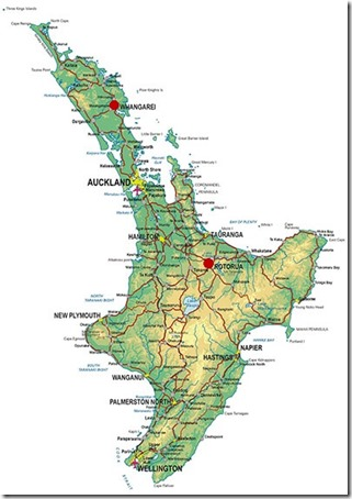 New-Zealand-Itineraries-North-Island-Map