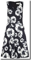 Damsel in a Dress Black and White Floral Dress