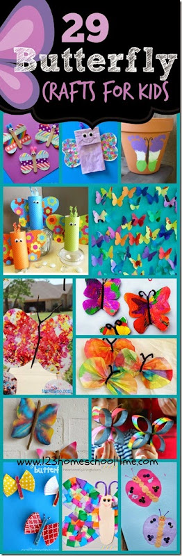 29 Butterfly Crafts for Kids - So many beautiful and unique ways for kid from toddler, preschool, kindergarten, and more to make butterflies!