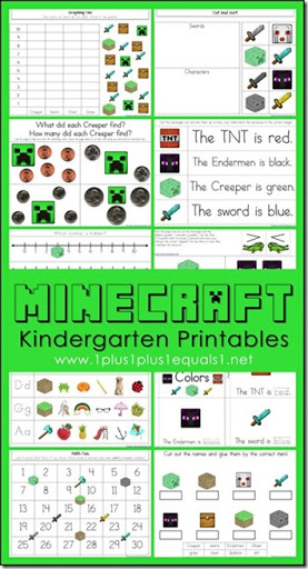FREE Minecraft Worksheets For Kids In Kindergarten   What A FUN Way For  Kids To Practice