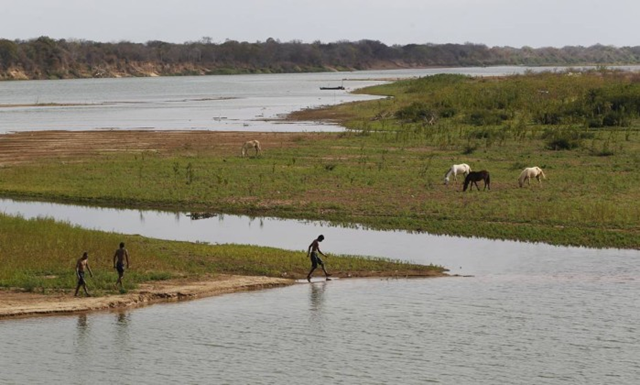 In September 2015, Brazil's São Francisco River was at its lowest level in a century. Photo: André Teixeira / O Globo
