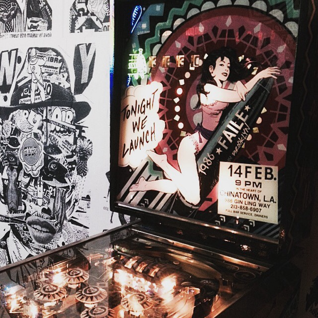 Faile Blast Deluxx Fluxx Arcade 2010 pinball machines at Brooklyn Museum
