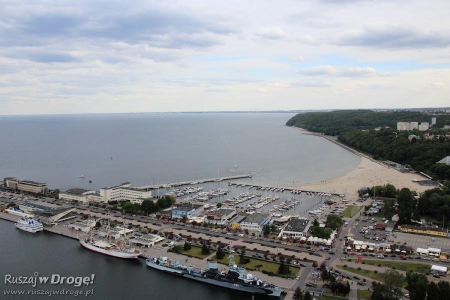 Gdynia Molo Południowe z lotu ptaka - widok z Sea Towers