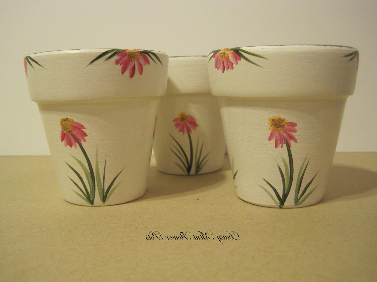 Tealight Mini Flower Pots Set