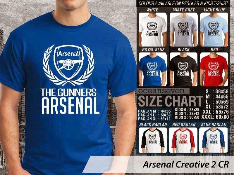 Kaos Bola Arsenal 13 Liga Premier Inggris distro ocean seven