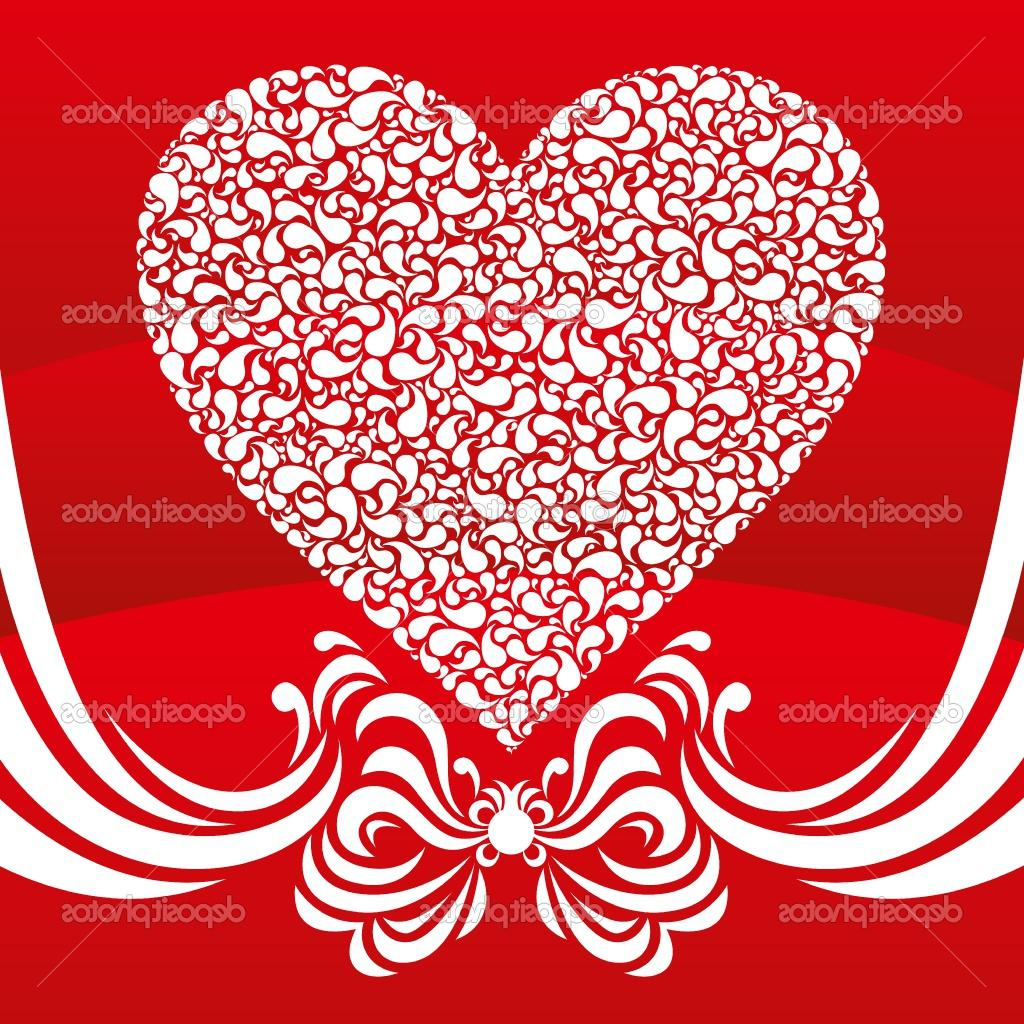 Vector abstract heart card for