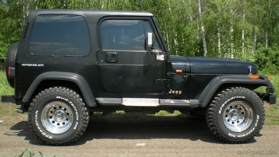 1990 jeep wrangler suv specifications pictures prices. Black Bedroom Furniture Sets. Home Design Ideas