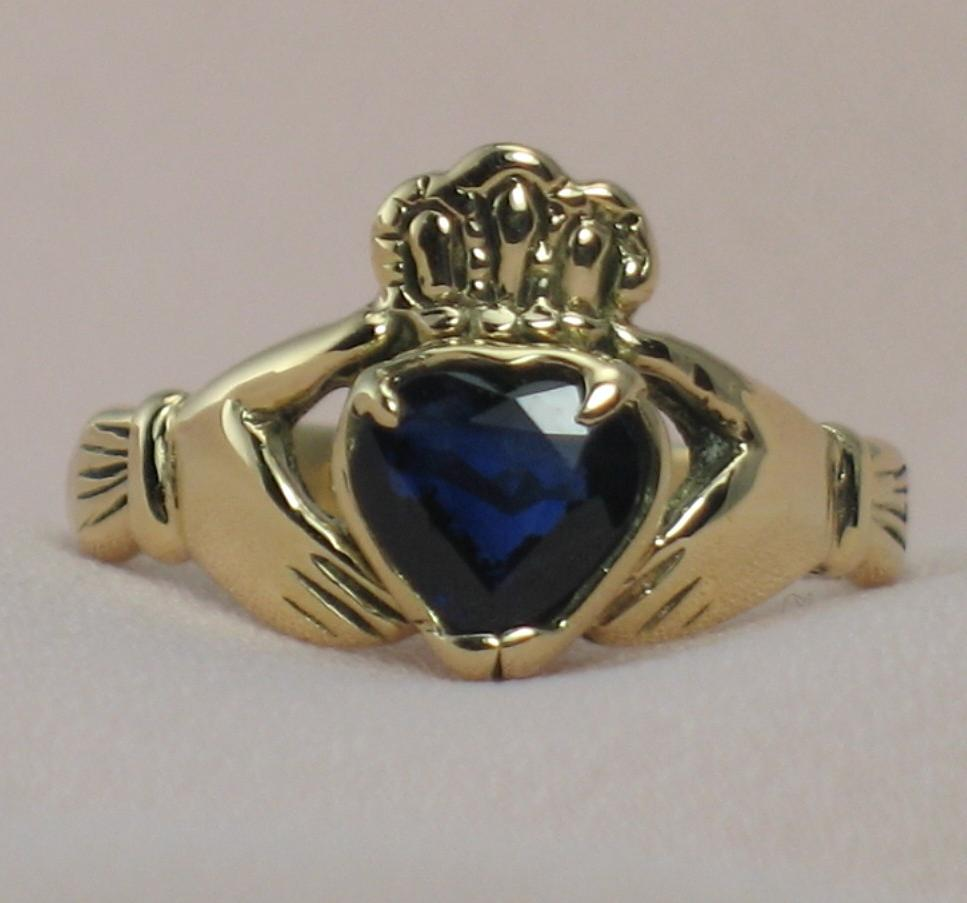 Natural Blue Sapphire, in 14k