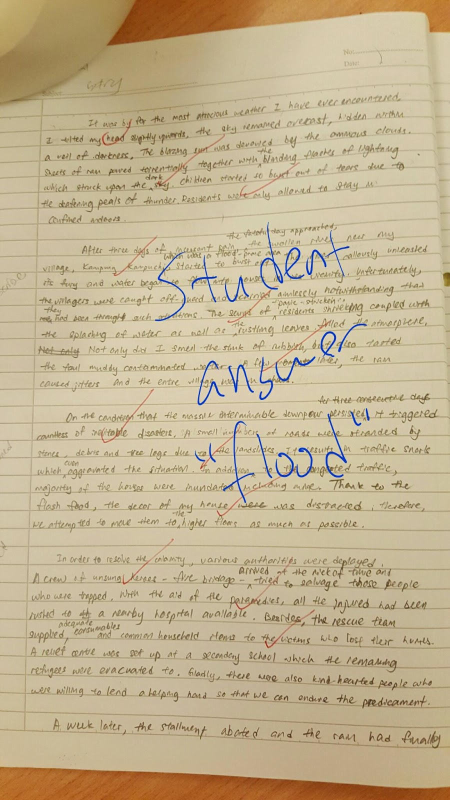 Master Tuitionthe Bahasa Malaysia Specialist And The English Expert  Student Essay Flood