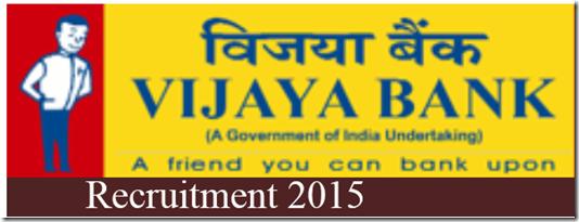 Vijaya Bank 2015 Manager-Security Recruitment Notification