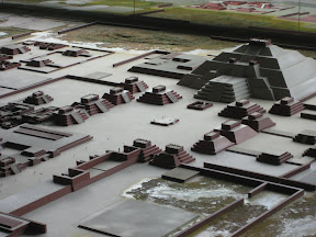 A scale model of what the site looked like around 1500 years ago