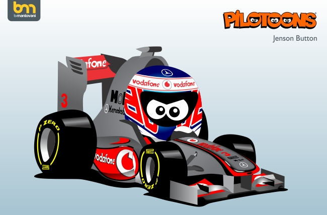 Дженсон Баттон McLaren MP4-27 pilotoons 2012