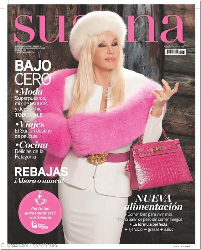 Chino leunis en revista susana agosto 2015 tapa y for Revistas de chismes del espectaculo