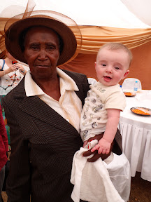 """Matimu's """"great grandmother"""" Lydia, from our host family in Dumphries."""