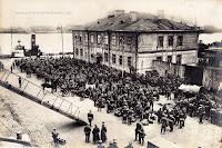 German troops at Marine-Hafenamt in Libau