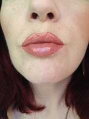 wearing NYX Cosmetics Intense Butter Gloss in Orangesicle_3