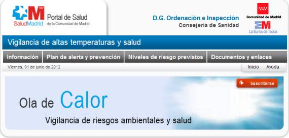 Plan de Alerta y Prevención de los Efectos sobre la Salud de las Olas de Calor