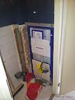 Toilet gemonteerd