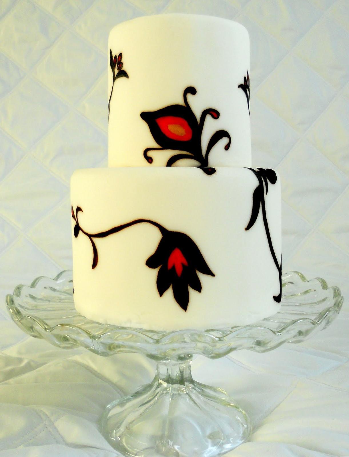 Becki\'s blog: Boutonniere Red Black Satin Flower Black Feathers ...