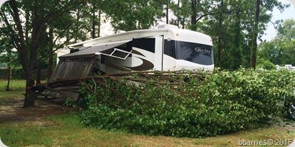 Barnyard RV Park storm 06302015