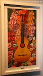 """Luis Abad. """"Guitarra Floral"""". Técnica mixta"""