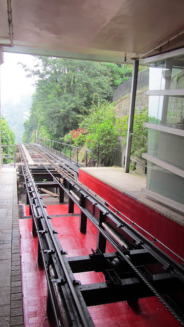 The Peak Tram takes riders on a 2km ride to the top of Victoria Peak.