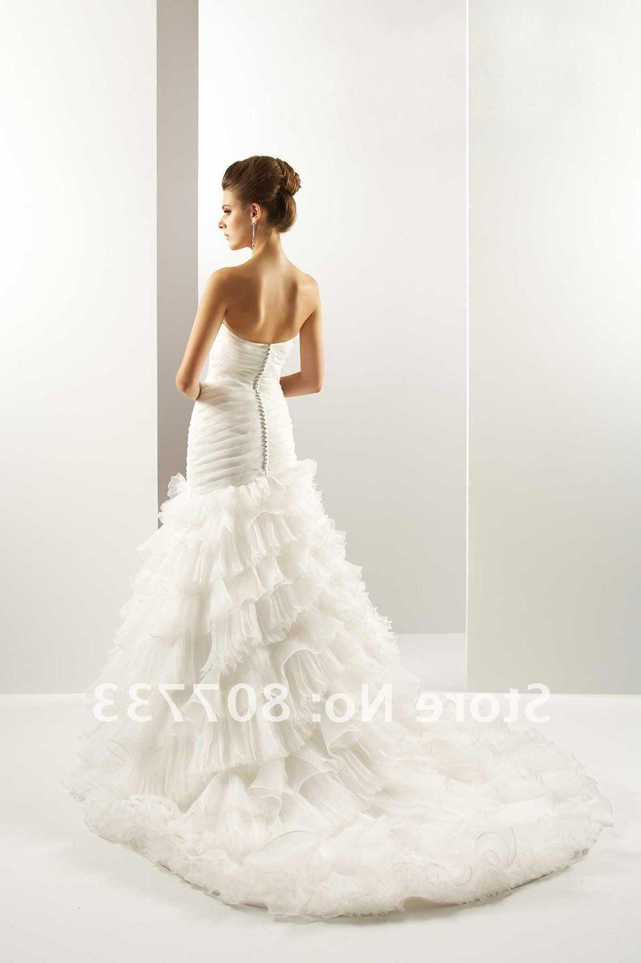 Buy one shoulder wedding dress