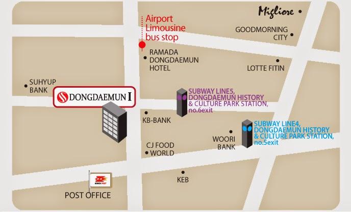 東大門1號天空花園酒店地圖