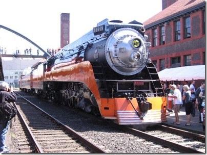 IMG_6081 Southern Pacific Daylight GS-4 4-8-4 #4449 at Union Station in Portland, Oregon on May 9, 2009