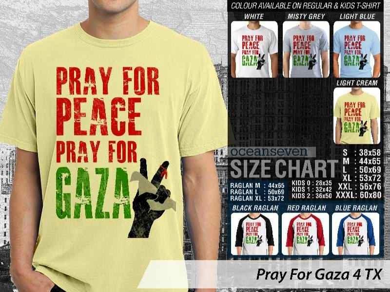 Kaos Muslim Islam Pray For Gaza 4 distro ocean seven