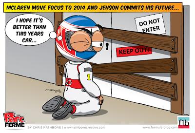 McLaren переключается на сезон 2014 - комикс Chris Rathbone