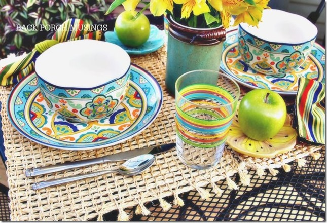 breakfast table by back porch musings