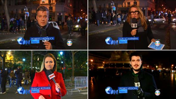 Correspondentes e enviados especiais no JN (Foto: Reprodução/TV Globo)