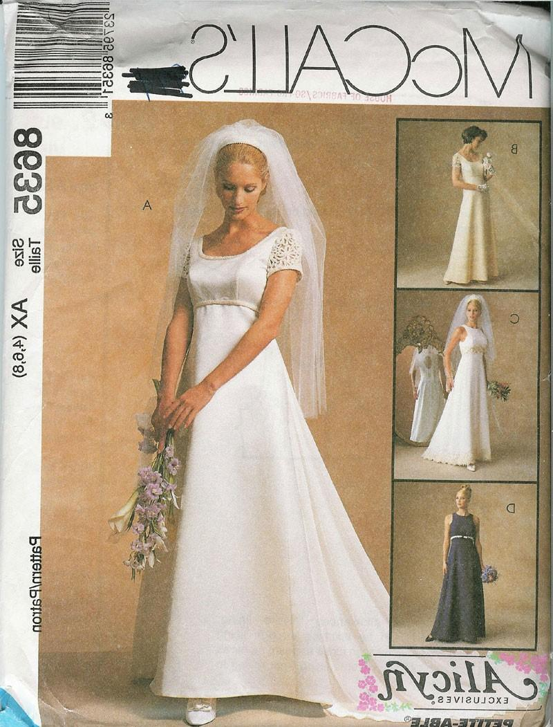 McCALLS 8635 Sewing Pattern... Misses and Petites WEDDING DRESS or