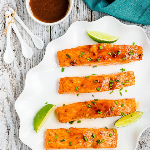 Skinny Glazed Salmon